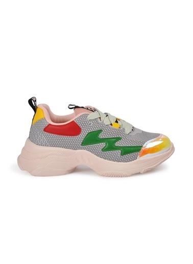 Tiffany&Tomato 9150485 Pudra Kadın Spor Ayakkabı Gri